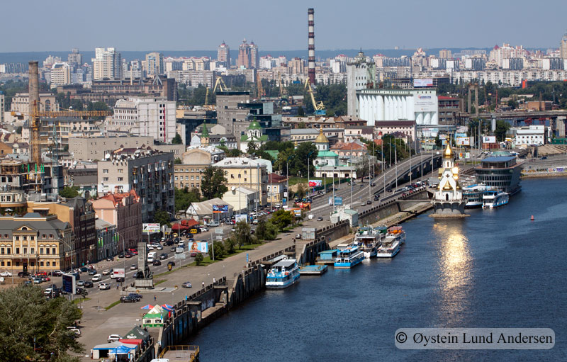Kiev by Dnieper River.