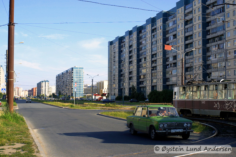 Residental area in a suburb outside St. Petersburg.