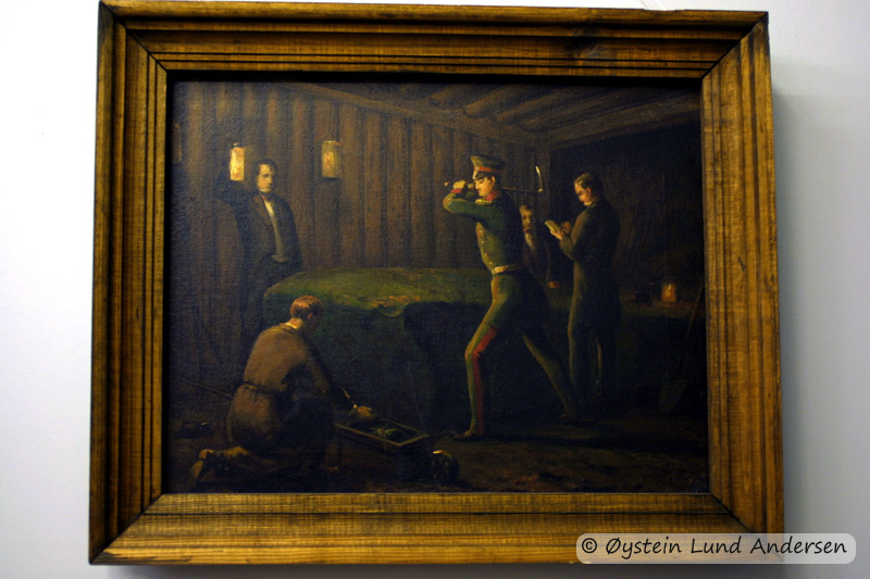 Painting portraying the execution of the Romanovs. Museum in Yeketerinburg.