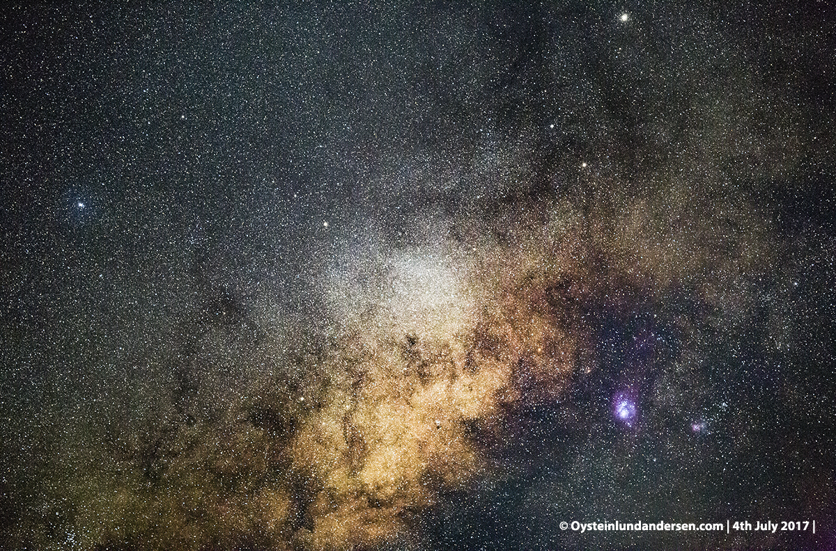 Lagoon nebula Messier 8 M8 tengger caldera bromo indonesia 2017
