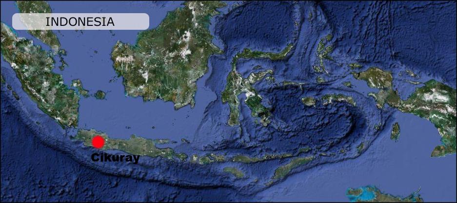 Cikuray volcano map Indonesia