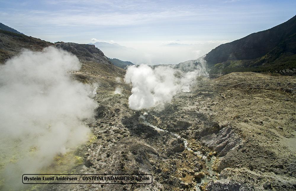Papandayan volcano Indonesia 2015