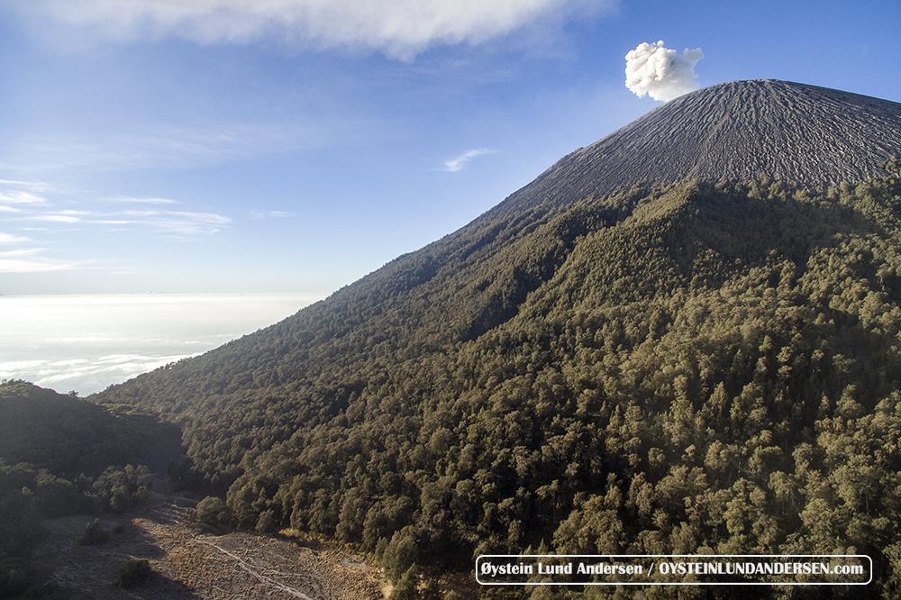 Semeru 2015 Kalimati Basecamp Aerial DJI UAV Phantom Indonesia