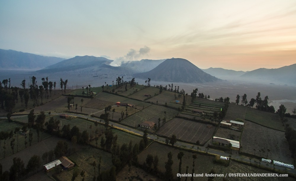 Bromo Aerial October 2015 Indonesia Volcano Volcanoes Java