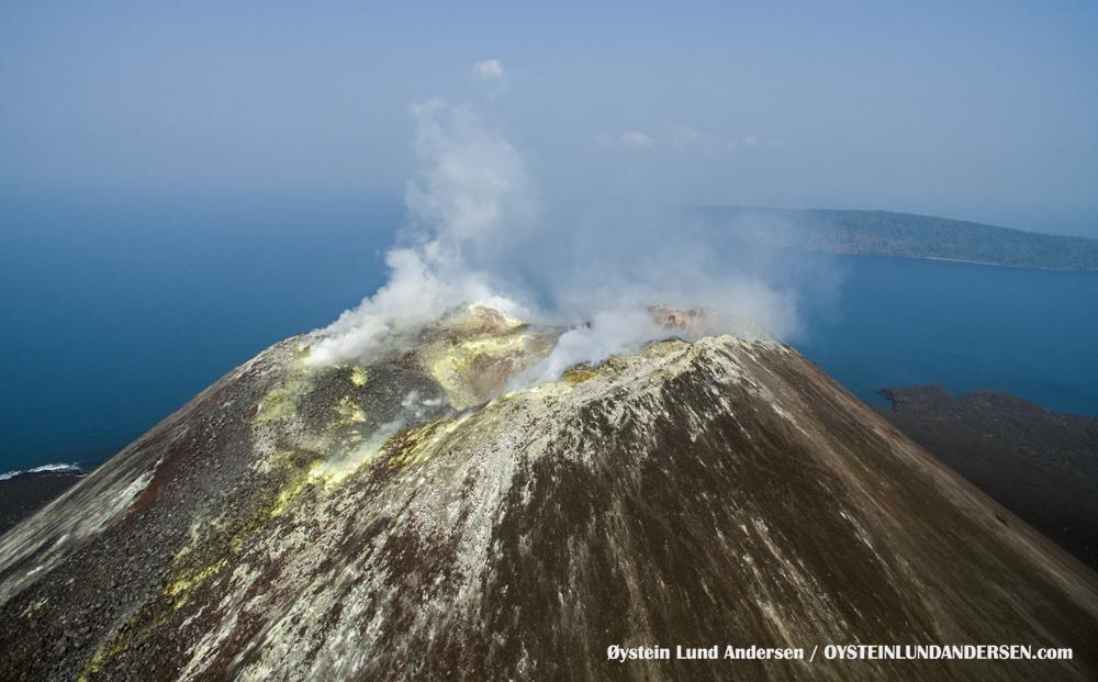 Krakatau, Krakatoa, Volcano, Java, 2015, aerial, photography, crater