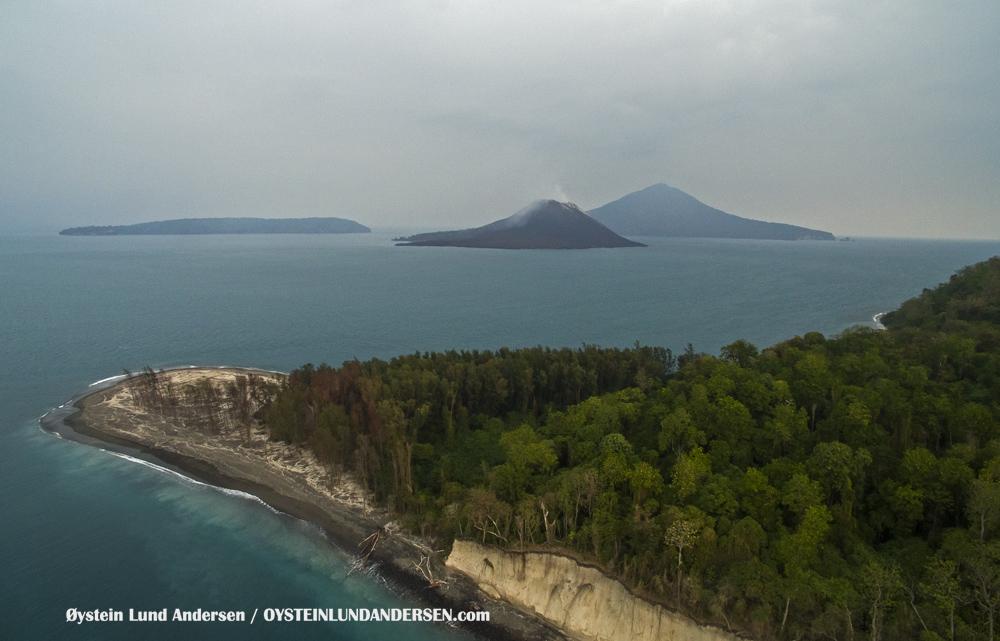 Krakatau, Krakatoa, Volcano, Java, 2015, aerial, photography