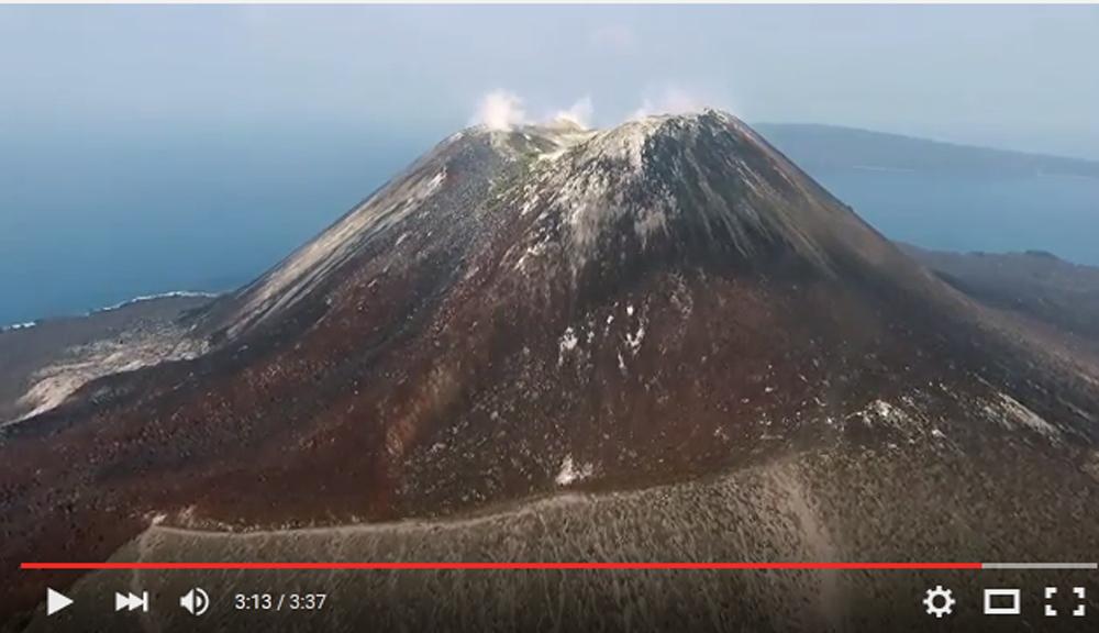 Krakatau aerial video 2015