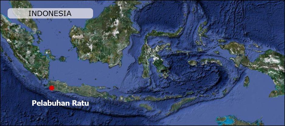 Pelabuhan Ratu West Java Indonesia Map Maps Peta