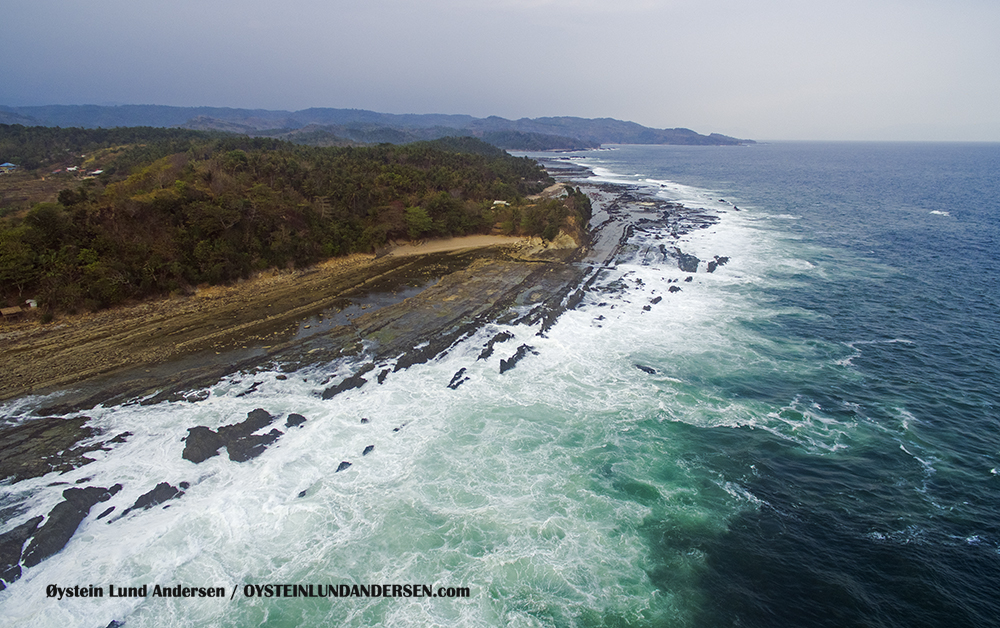 Sawarna Beach, West-Java, Java, Indonesia, Banten, Aerial, Drone, Phantom, surfing