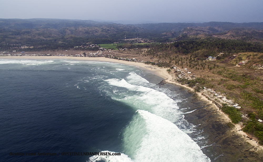 Sawarna Beach, West-Java, Java, Indonesia, Banten, Aerial, Drone, Phantom
