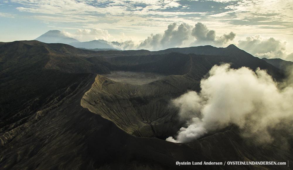 Aerial Bromo Volcano November-2015 Indonesia
