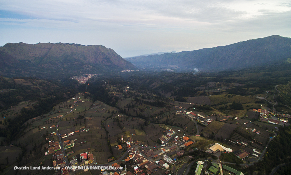 Aerial Bromo Volcano November-2015 Indonesia Ngadisari Caldera