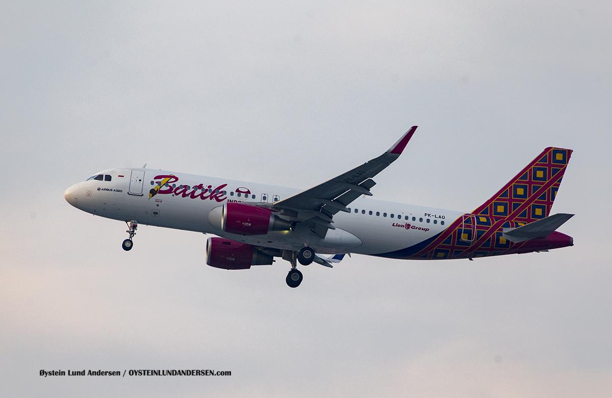 Jakarta Airport Sukarno Hatta (CGK) Batik Air Airbus 320 (PK-LAO)