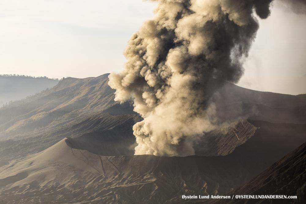Bromo Eruption December 2015 Indonesia Java ash-plume
