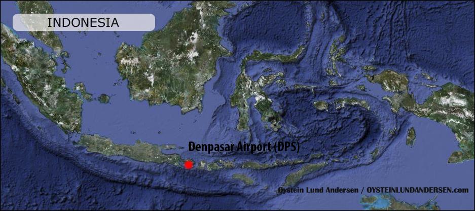 Denpasar Airport Peta Map Indonesia