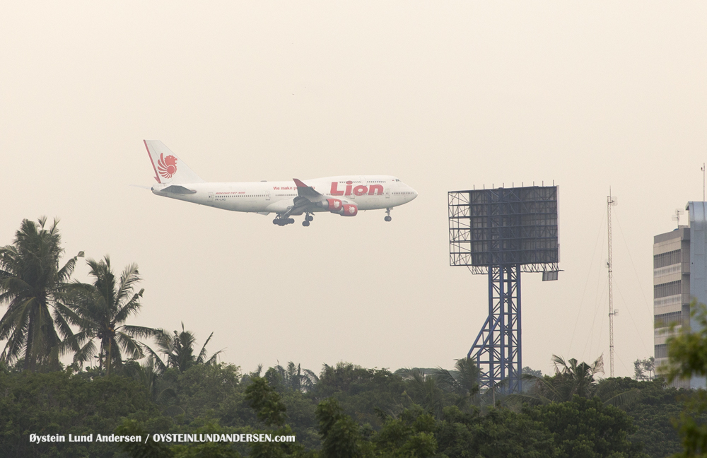 Lion Air Boeing 747-400 arriving from Denpasar, Bali (PK-LHG) (15th February 2016)