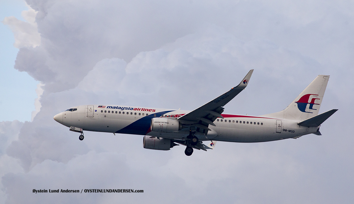 Malaysian Airlines (9M-MSD) Boeing 737-800 Jakarta Airport Sukarno Hatta