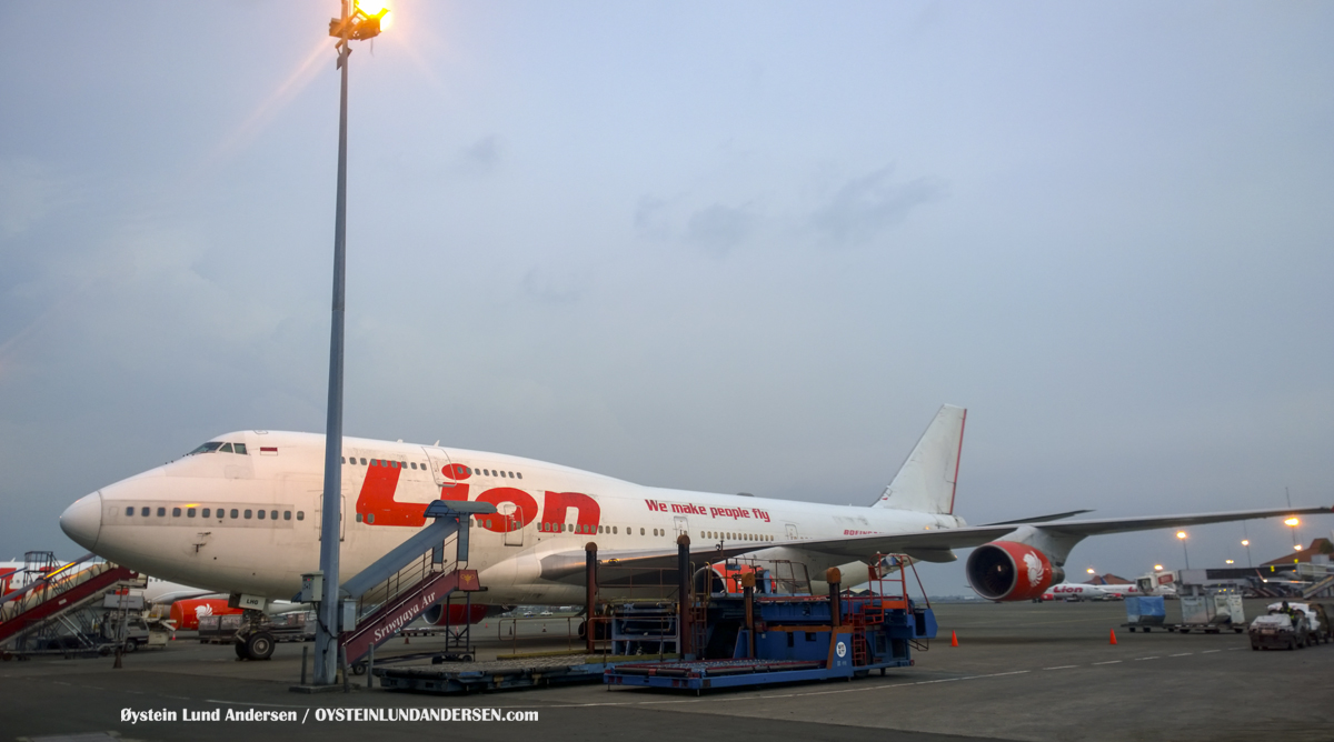 Boeing 747-400 PK-LHG Jakarta CGK WIII Indonesia Tharmaq
