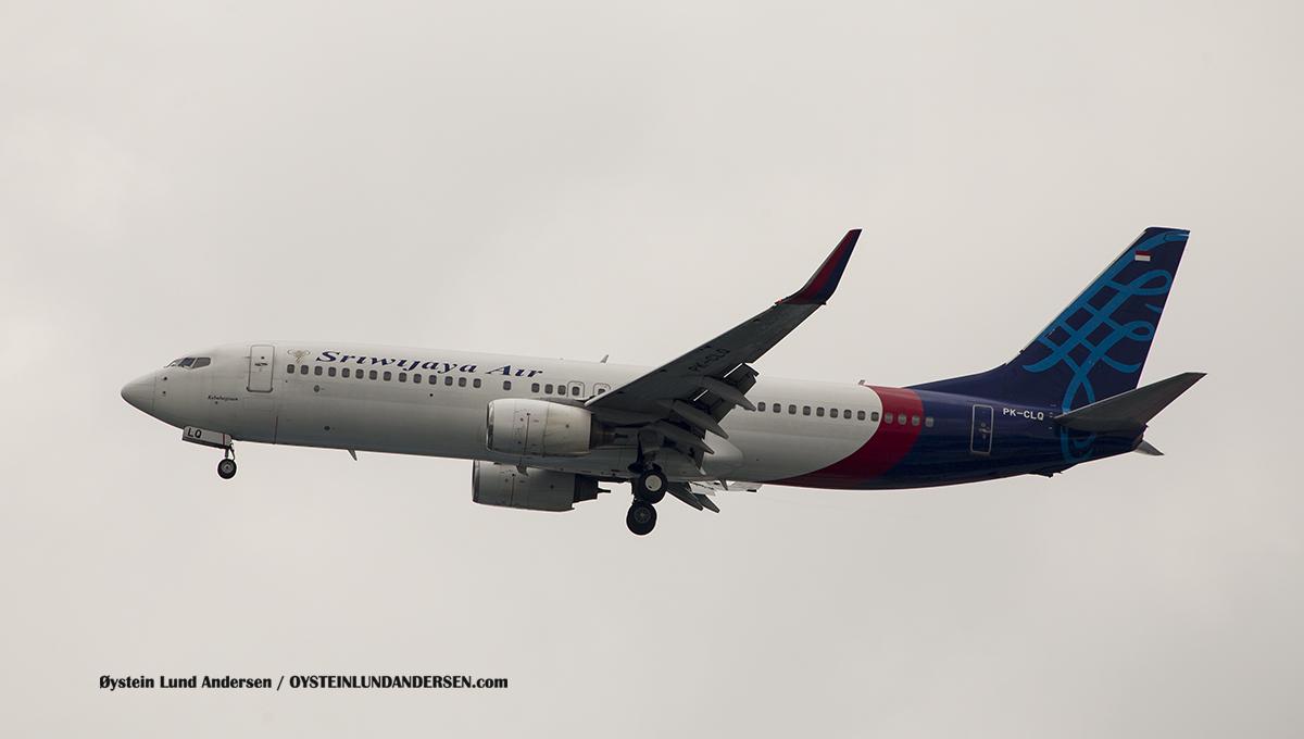 Jakarta Indonesia Sriwijaya - Boeing 737-800 (PK-CLQ, named Kebahagiaan (English:Happiness))(