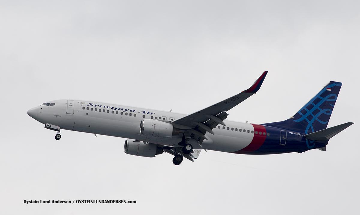 Jakarta Indonesia Sriwijaya - Boeing 737-800 (PK-CRA, named Anugrah)