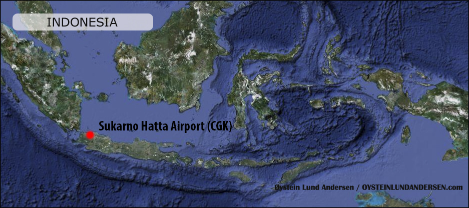 sukarno hatta airport Jakarta Peta Map