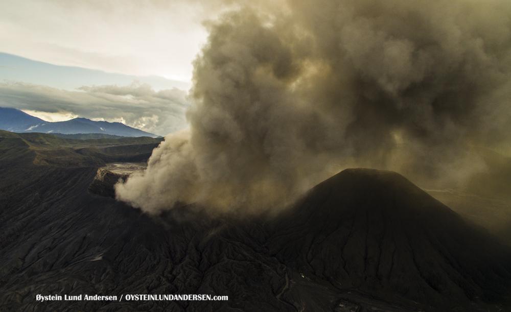 aerialBromo Volcano Eruption 2016 February 2016 Indonesia