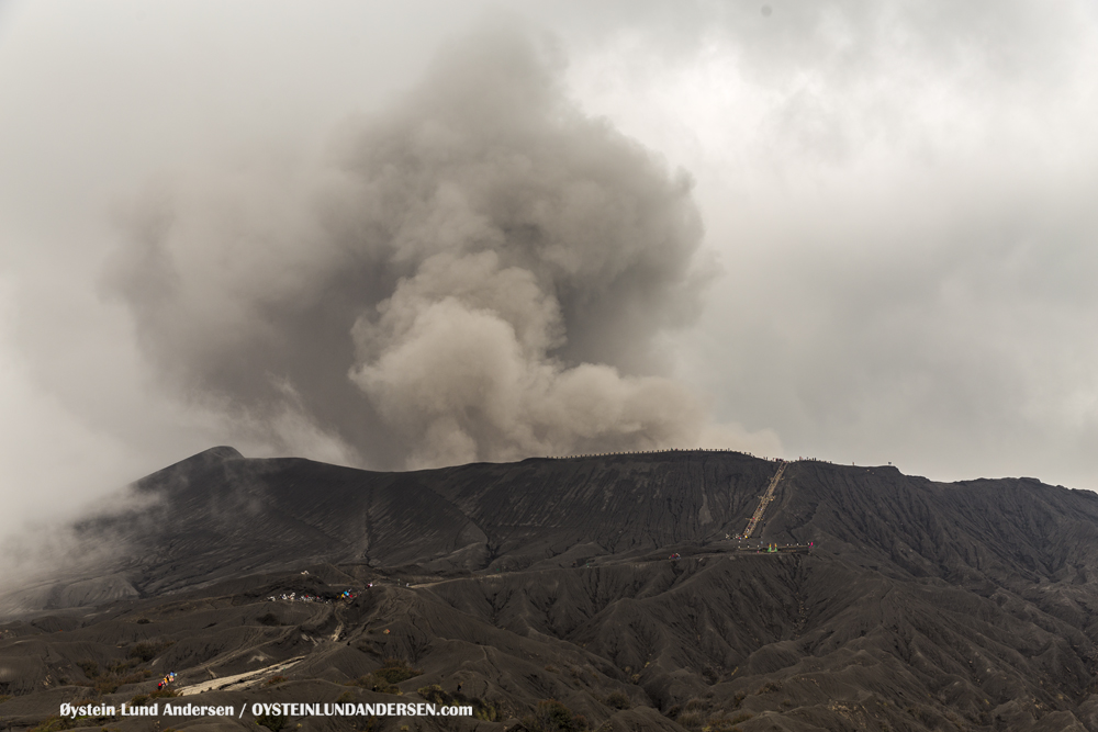 Bromo Tengger Indonesia Eruption February 2016
