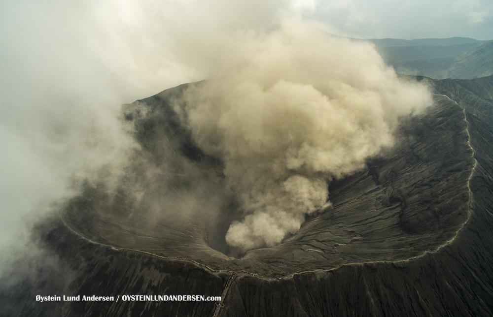 Bromo Tengger Indonesia Eruption February 2016 Aerial