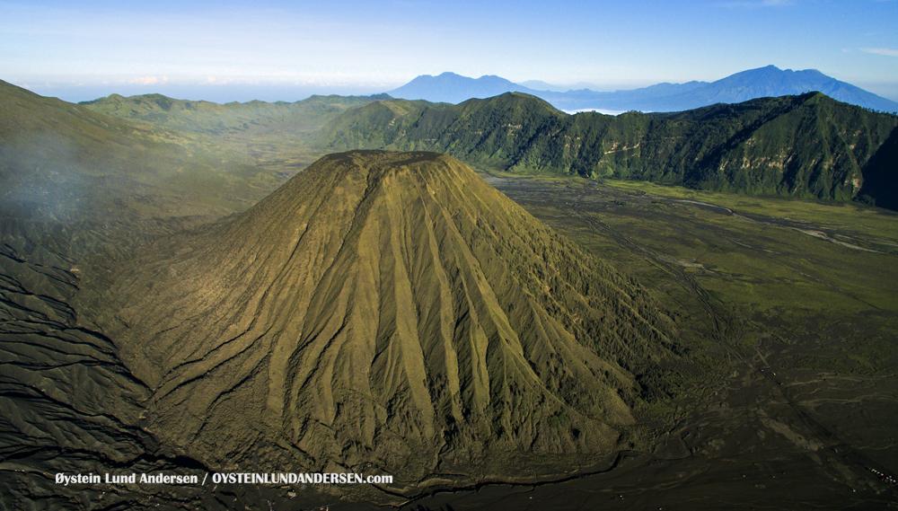 Aerial Batok Volcano Tengger Indonesia