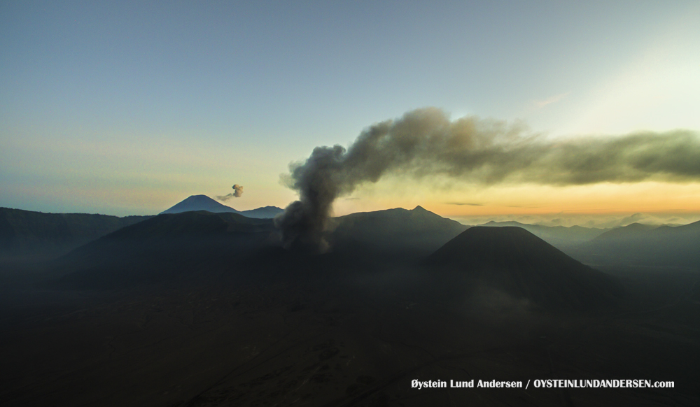 Aerial Bromo Eruption 2016 Tengger Indonesia Eruption Volcano May2016