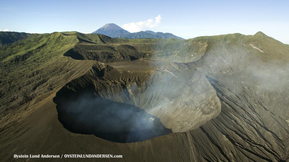Aerial Phantom Bromo Eruption 2016 Tengger Indonesia Eruption Volcano June 2016