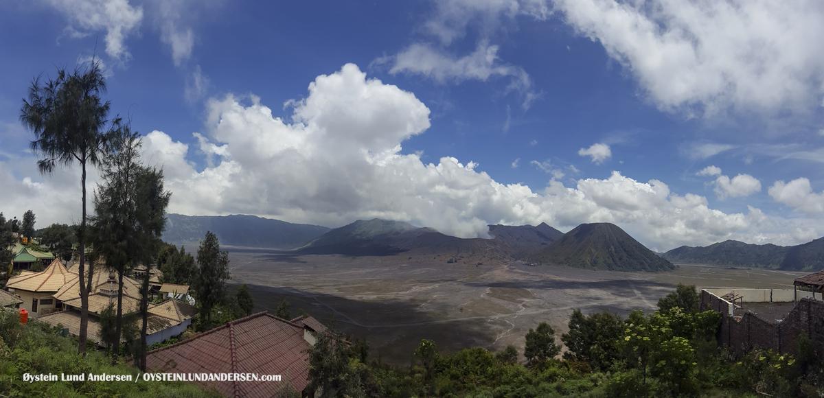 Aerial Cemara Lawang Bromo Tengger Volcano Indonesia Eruption September-2016