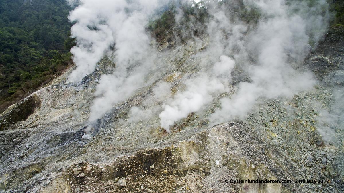 Salak volcano Indonesia Java Dji Phantom aerial gunung-salak 2017