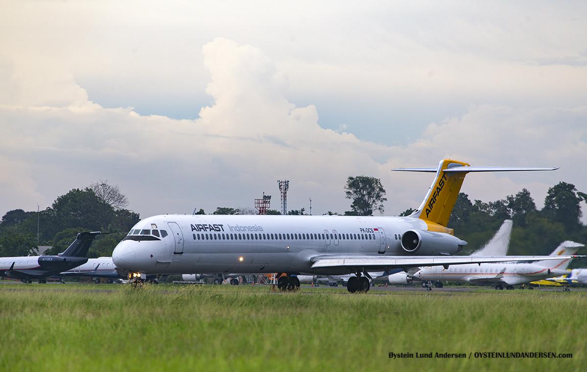 Airfast MD83 PK-OCS Halim Airport HLP Jakarta Indonesia Spotting 2016