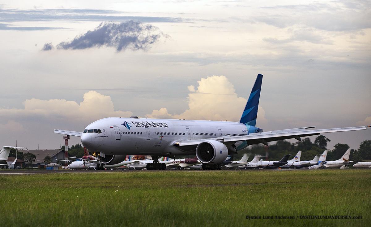 Boeing 777-300 PK-GIK Garuda Indonesia Halim Airport HLP Jakarta Indonesia Spotting 2016