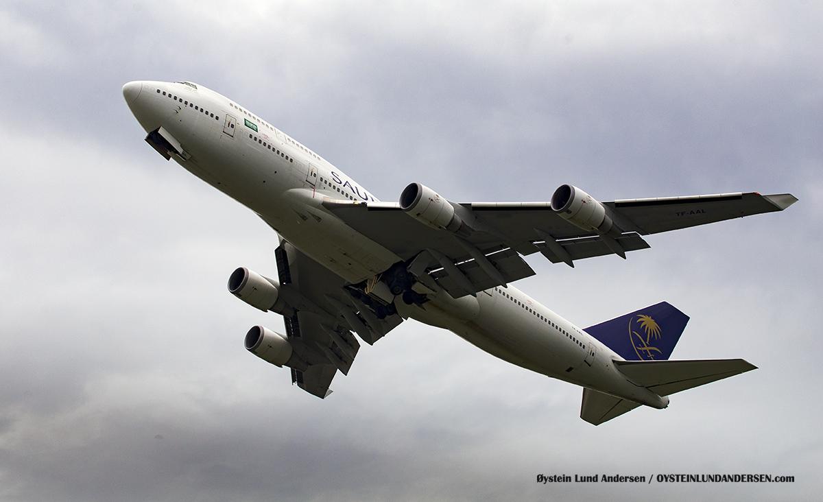 Boeing 747-400 Saudia TF-AAL Halim Airport HLP Jakarta Indonesia Spotting 2016
