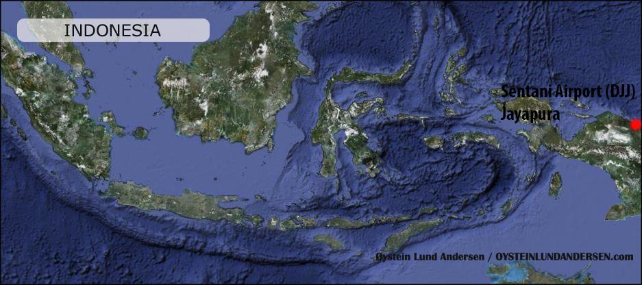 Sentani airport Jayapura Peta Map