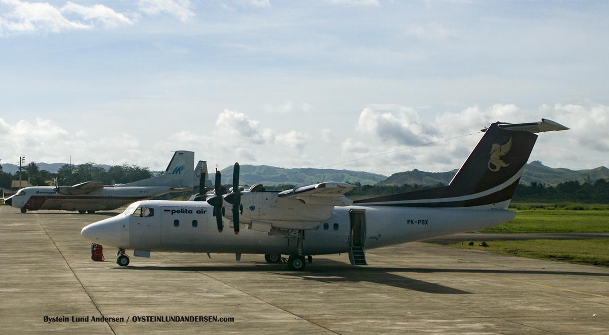 Dhc-7 Pelita air sentani airport jayapura djj spotting