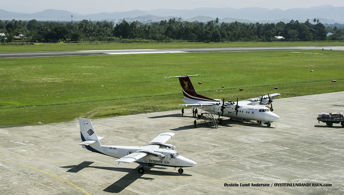 Dhc-6 Dhc-7 Pelita air Trigana sentani airport jayapura djj spotting