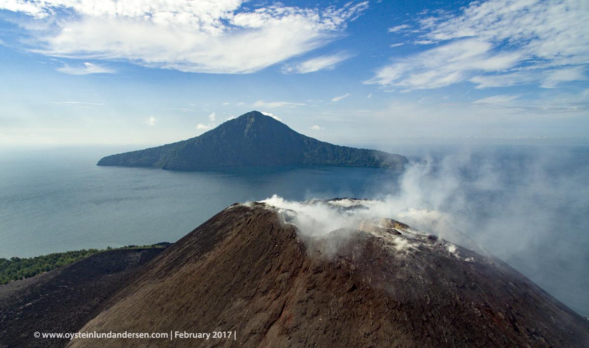 Aerial Krakatau 2017 dji volcano sunda java andersen