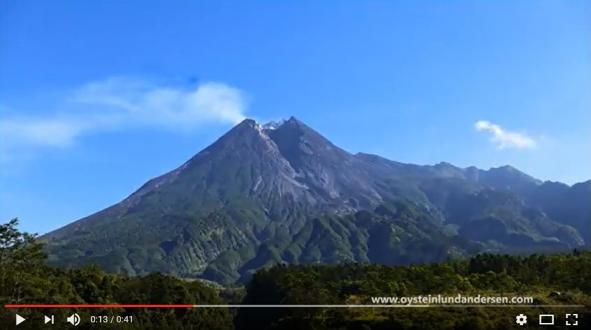 Merapi volcano indonesia timelapse video 2017