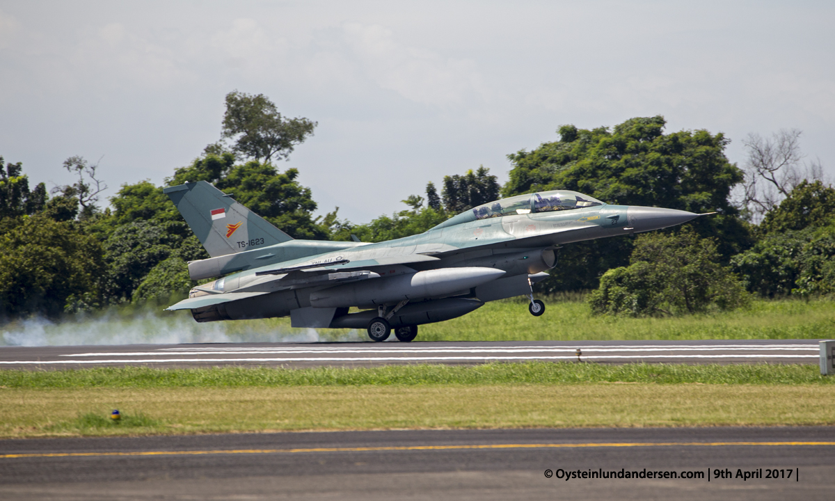 Indonesian Airforce TNI 2017 Halim F16 (TS-1623)