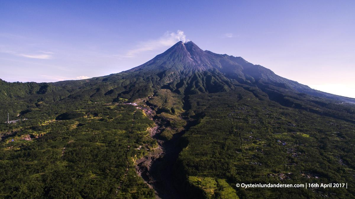 DJI Aerial Merapi Volcano Central-Java Yogyakarta 2017
