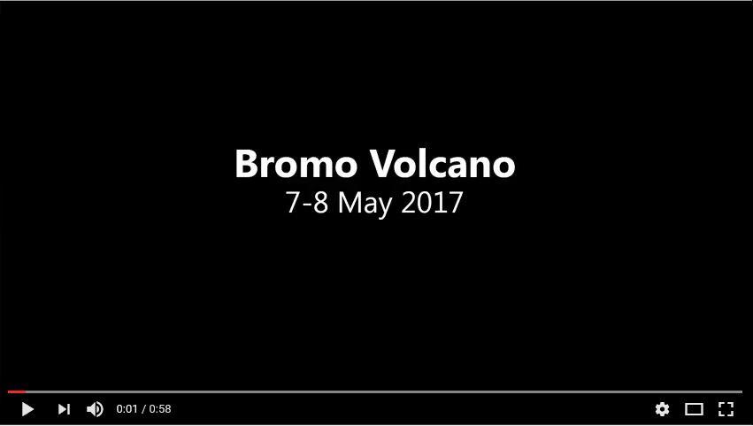 Bromo timelapse tengger 2017 video volcano