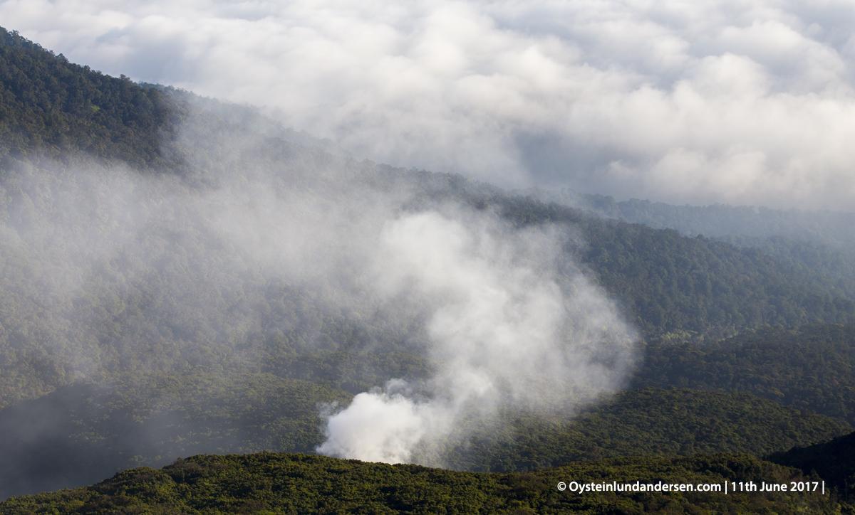 Gede-pangrango volcano crater dji aerial indonesia gunung-api gede 2017