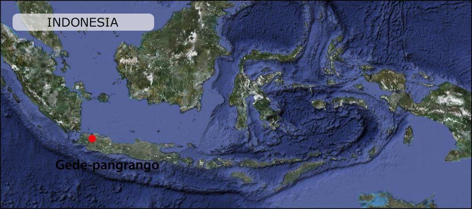 gede-pangrango map peta 2017