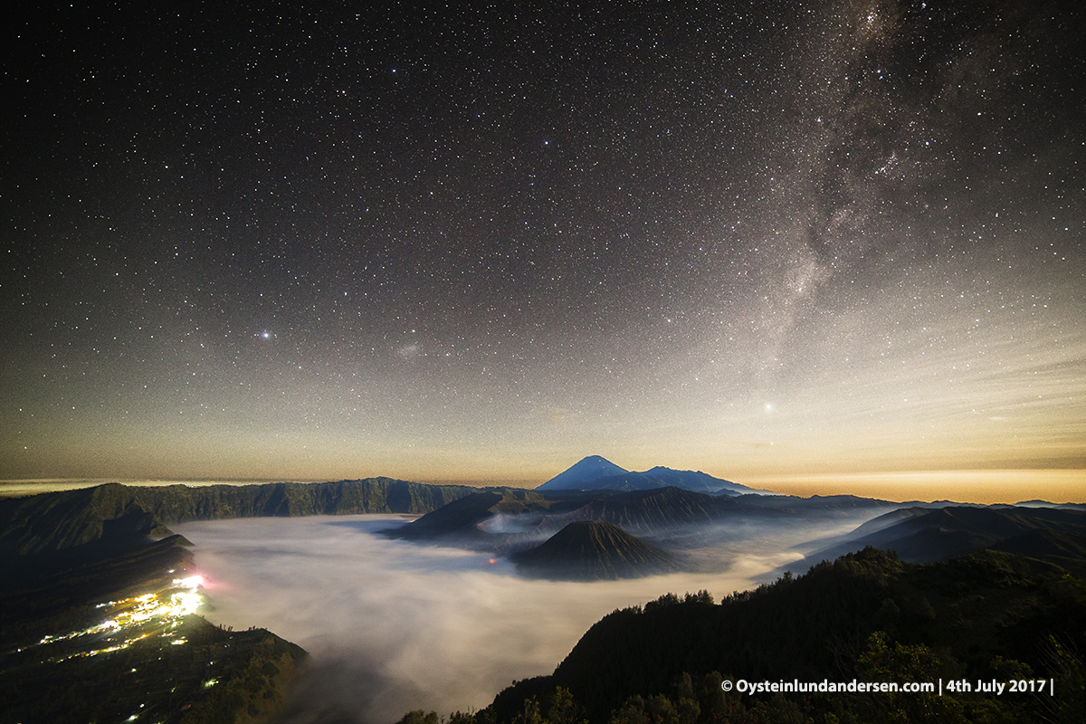 Bromo milkyway galactic center july 2017 tengger