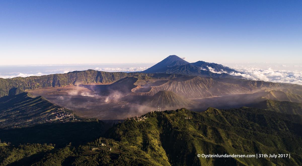 Bromo Indonesia Volcano July August 2017 DJI Aerial Sandsea Caldera