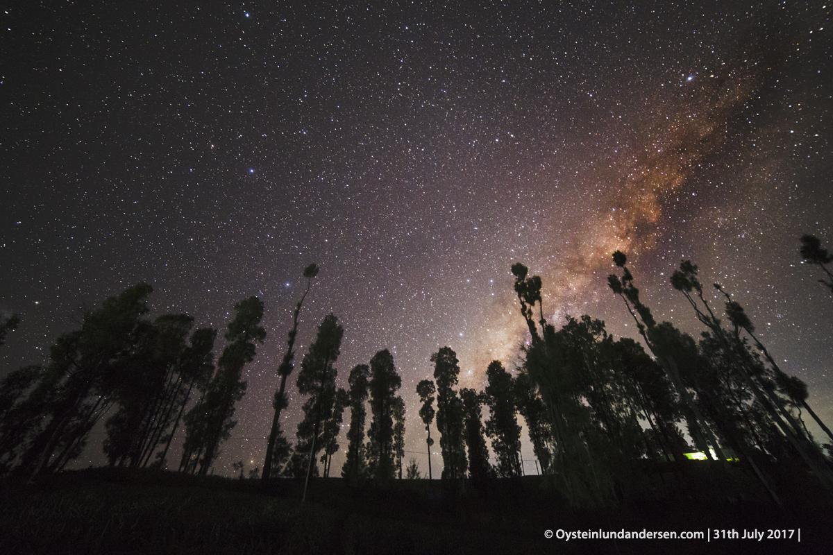 Milky way night bromo long exposure galactic centre 2017