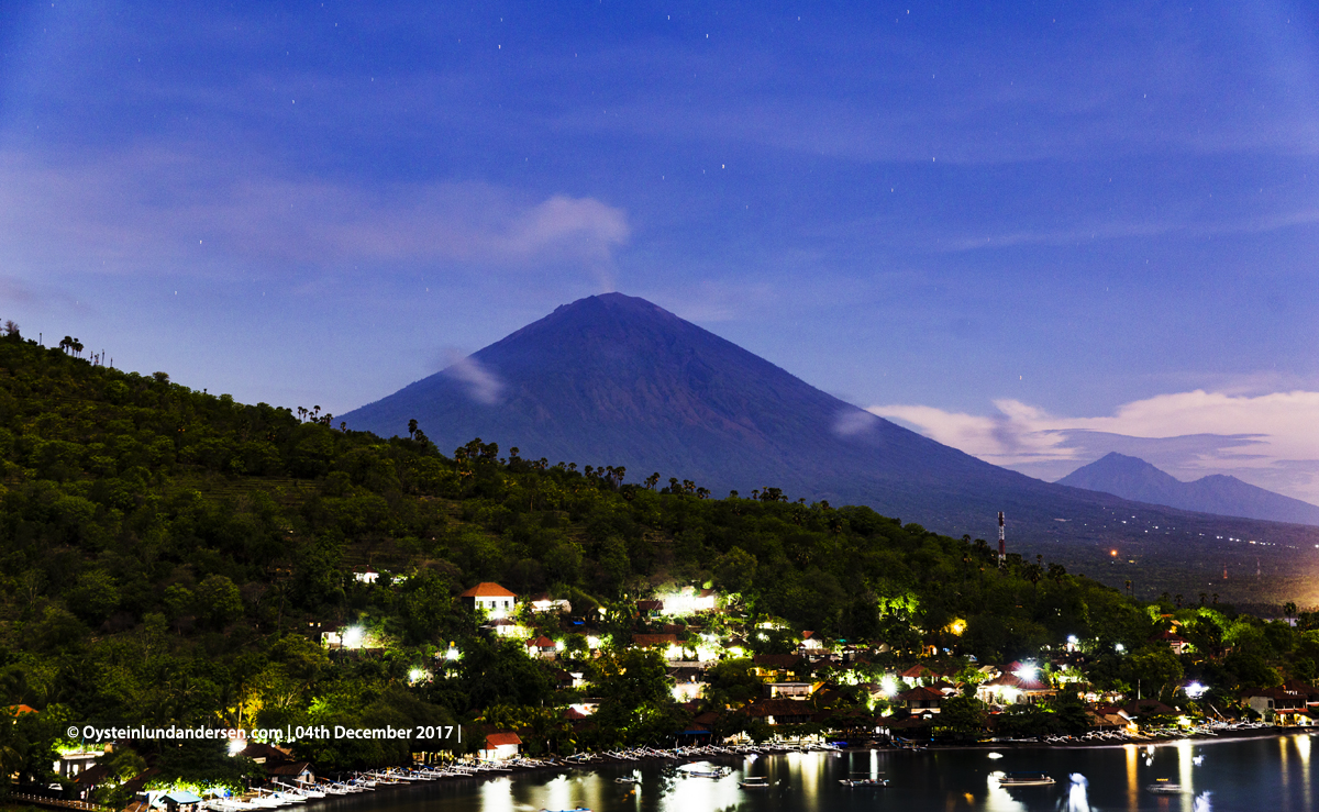 Agung volcano Bali Indonesia December 2017 Amed